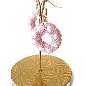 Украшения handmade. Livemaster - original item Long pink ring earrings 060. Handmade.