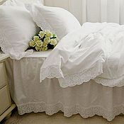 handmade. Livemaster - original item Bed linen with sewing