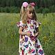 """Одежда для девочек, ручной работы. Ярмарка Мастеров - ручная работа. Купить Розовое платье для девочки """"Бабочки"""" из  американского хлопка. Handmade."""