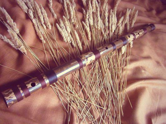 Духовые инструменты ручной работы. Ярмарка Мастеров - ручная работа. Купить Бансури большая для медитаций. Handmade. Коричневый, флейта, медитация