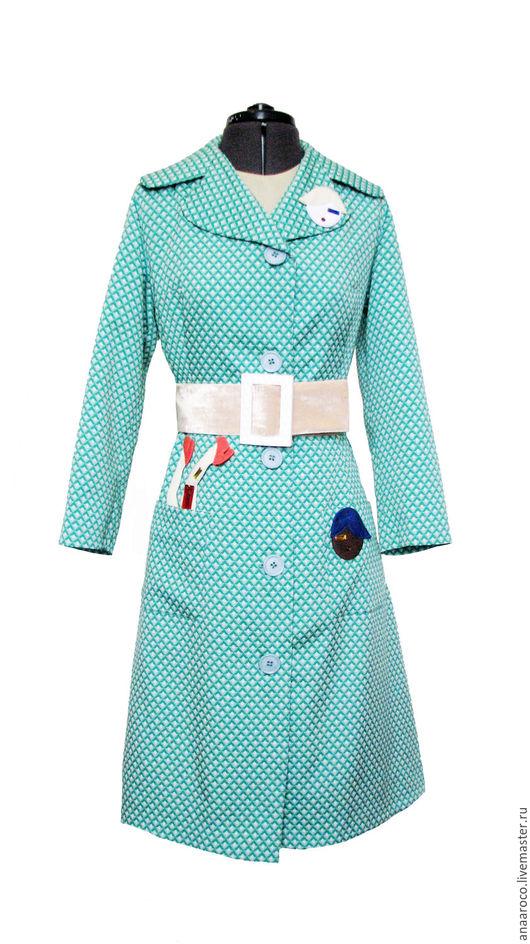 Верхняя одежда ручной работы. Ярмарка Мастеров - ручная работа. Купить Пальто Весна-Лето. Handmade. Зеленый, пальто женское