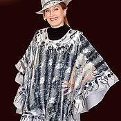 """Одежда ручной работы. Ярмарка Мастеров - ручная работа Пончо """"Серебристое"""". Handmade."""