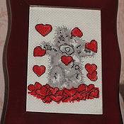 """Картины и панно ручной работы. Ярмарка Мастеров - ручная работа Вышитая картина """"Мишка Тедди"""". Handmade."""