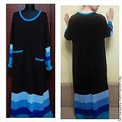 Одежда ручной работы. Ярмарка Мастеров - ручная работа Платье туника в стиле бохо большого размера. Handmade.