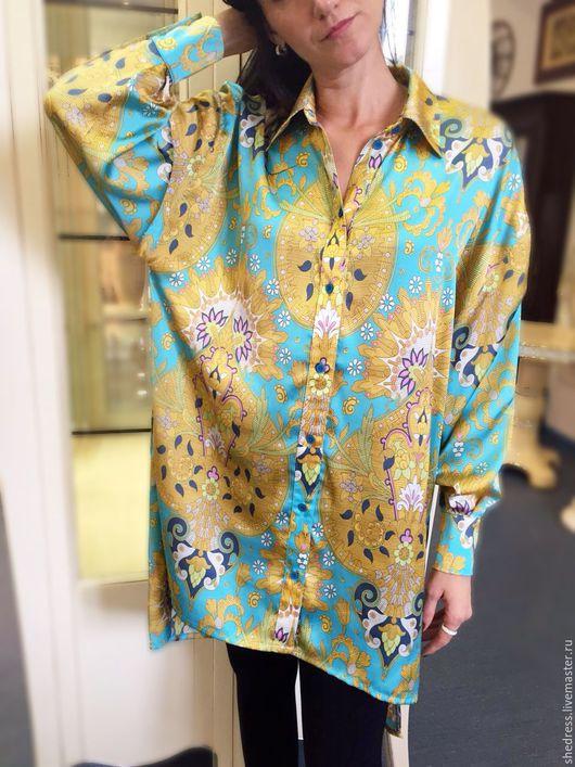 """Платья ручной работы. Ярмарка Мастеров - ручная работа. Купить Для Вас! Стильное платье-рубашка""""Бирюза"""". Handmade. Тёмно-бирюзовый"""