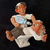 Сувениры и подарки ручной работы. Ярмарка Мастеров - ручная работа Зубной врач с дрелью. Handmade.