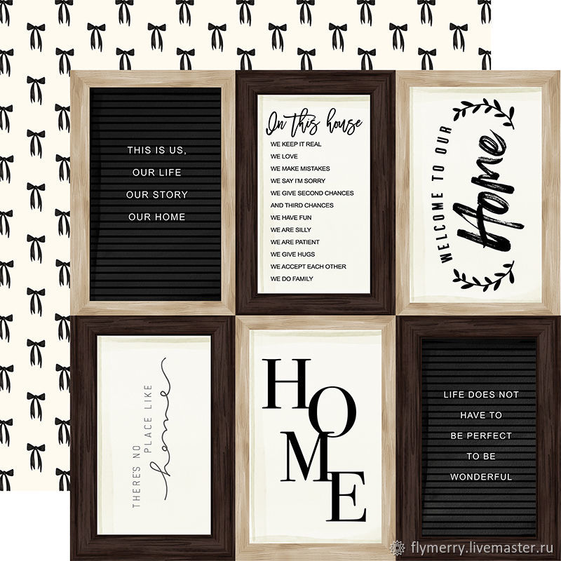 """Лист двусторонней бумаги """"Home Again"""" CARTA BELLA, Карточки, Бумага, Москва,  Фото №1"""