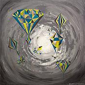 Картины ручной работы. Ярмарка Мастеров - ручная работа We Are Diamonds Taking Shape / Мы алмазы, принимающие форму. Handmade.