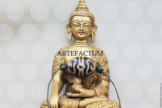 Для украшений ручной работы. Ярмарка Мастеров - ручная работа. Купить Тибетская бусина Дзи шапка Дхармы(Шапка Падмасамбхавы). Handmade.
