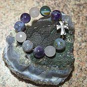 Фен-шуй и эзотерика handmade. Livemaster - original item Breast beads made of amethyst, agate and rose quartz