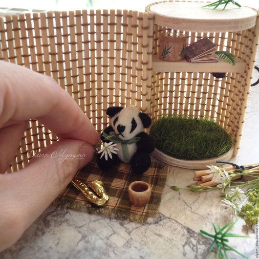 Развивающие игрушки ручной работы. Ярмарка Мастеров - ручная работа. Купить Домик-сундучок для панды-музыканта. Handmade. Миниатюра