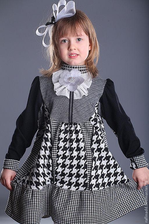 Одежда для девочек, ручной работы. Ярмарка Мастеров - ручная работа. Купить Платье для девочки. Handmade. Чёрно-белый, детская одежда