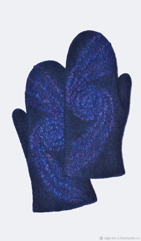 Варежки женские Синяя ночь, Варежки, Ижевск,  Фото №1