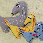Куклы и игрушки ручной работы. Ярмарка Мастеров - ручная работа Дизайн машинной вышивки. Символ 2018 года Собака. Handmade.