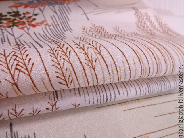 Japanese silk crepe 'the Outgoing summer', Fabric, Chelyabinsk,  Фото №1