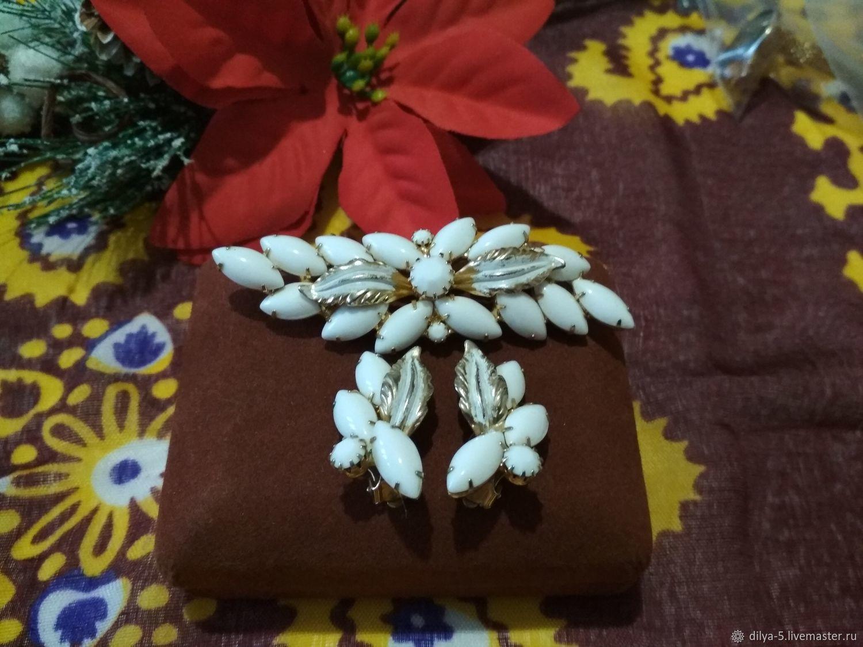 Brooch and clip earrings, Vintage jewelry sets, Vladimir,  Фото №1