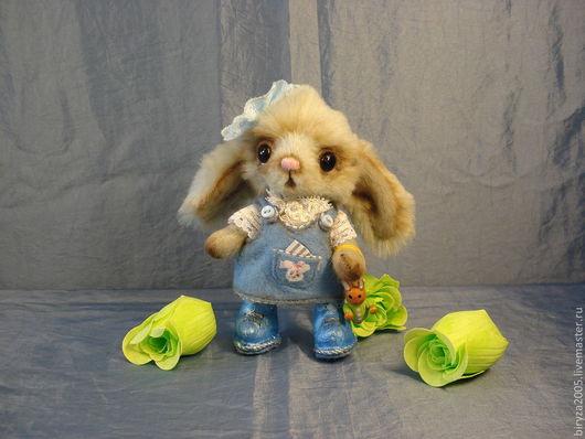 Мишки Тедди ручной работы. Ярмарка Мастеров - ручная работа. Купить Зайка Банни. Handmade. Голубой, зайчонок, плюш