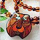 "Янтарь. Колье ""Ричард"" янтарь серебро дерево, Necklace, Moscow,  Фото №1"