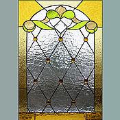Для дома и интерьера ручной работы. Ярмарка Мастеров - ручная работа оконный витраж для бани. Handmade.