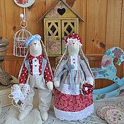 """Куклы и игрушки ручной работы. Ярмарка Мастеров - ручная работа Парочка зайцев в стиле Тильда """"На двоих одно дыхание"""". Handmade."""
