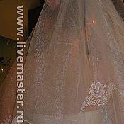 Свадебный салон ручной работы. Ярмарка Мастеров - ручная работа фата, машинная вышивка. Handmade.