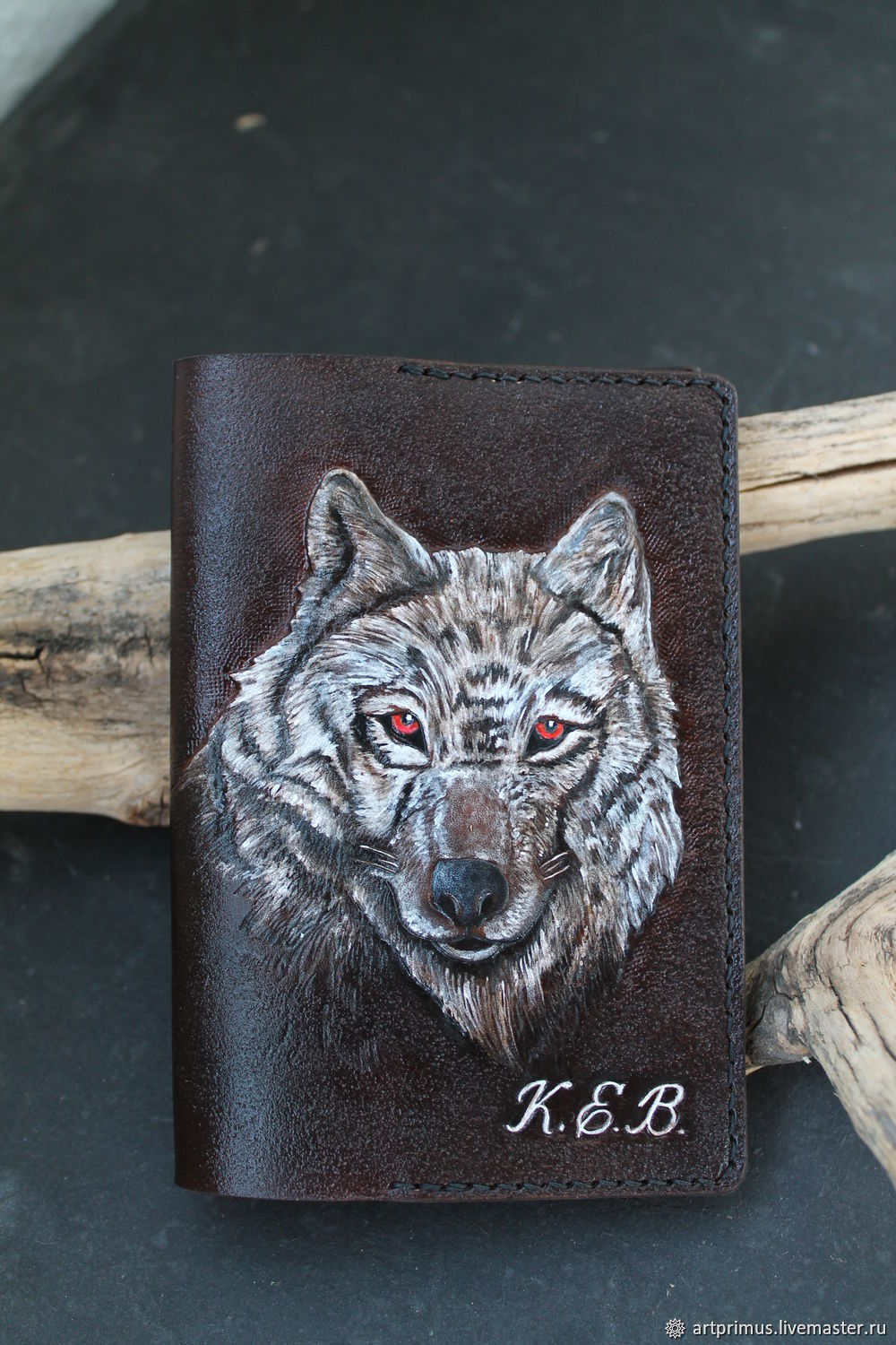Diary format A6 Wolf embossing, Diaries, Voronezh,  Фото №1