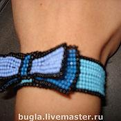 Украшения ручной работы. Ярмарка Мастеров - ручная работа Браслет с голубым бантиком. Handmade.