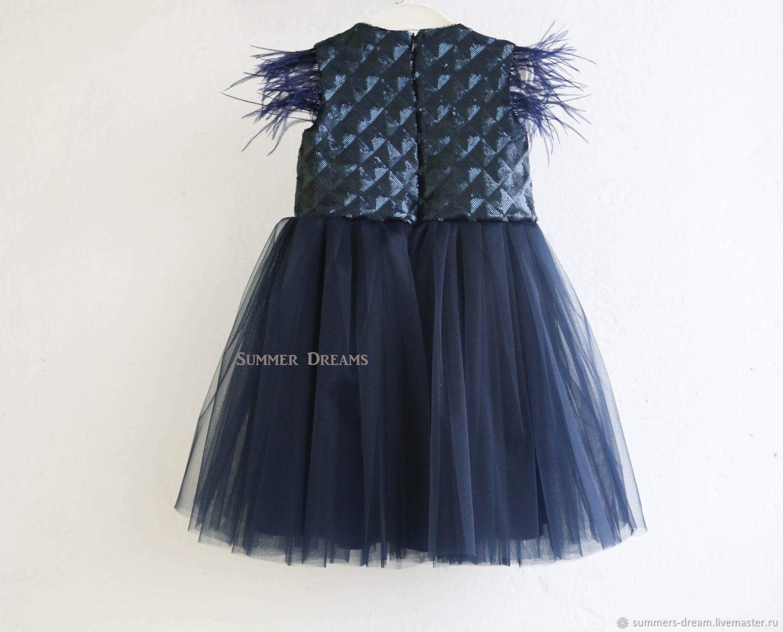 Стильное детское платье Black swan
