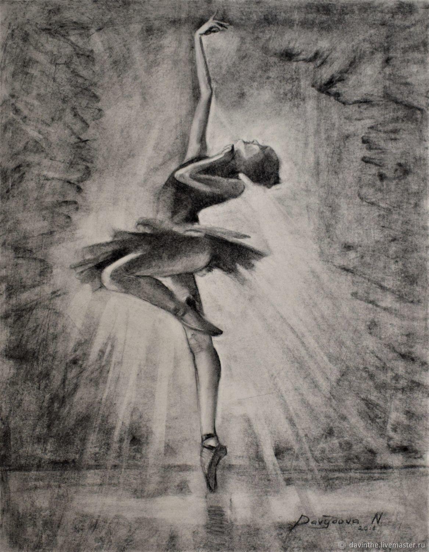 Авторский рисунок углем Балерина Графика Оригинал, Картины, Афины,  Фото №1