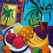 """Картины и панно ручной работы. Ярмарка Мастеров - ручная работа Натюрморт """"Тропическое настроение"""". Handmade."""