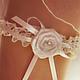 Одежда и аксессуары ручной работы. Ярмарка Мастеров - ручная работа. Купить Подвязка для невесты. Handmade. Белый, подвязка, цена, кружево