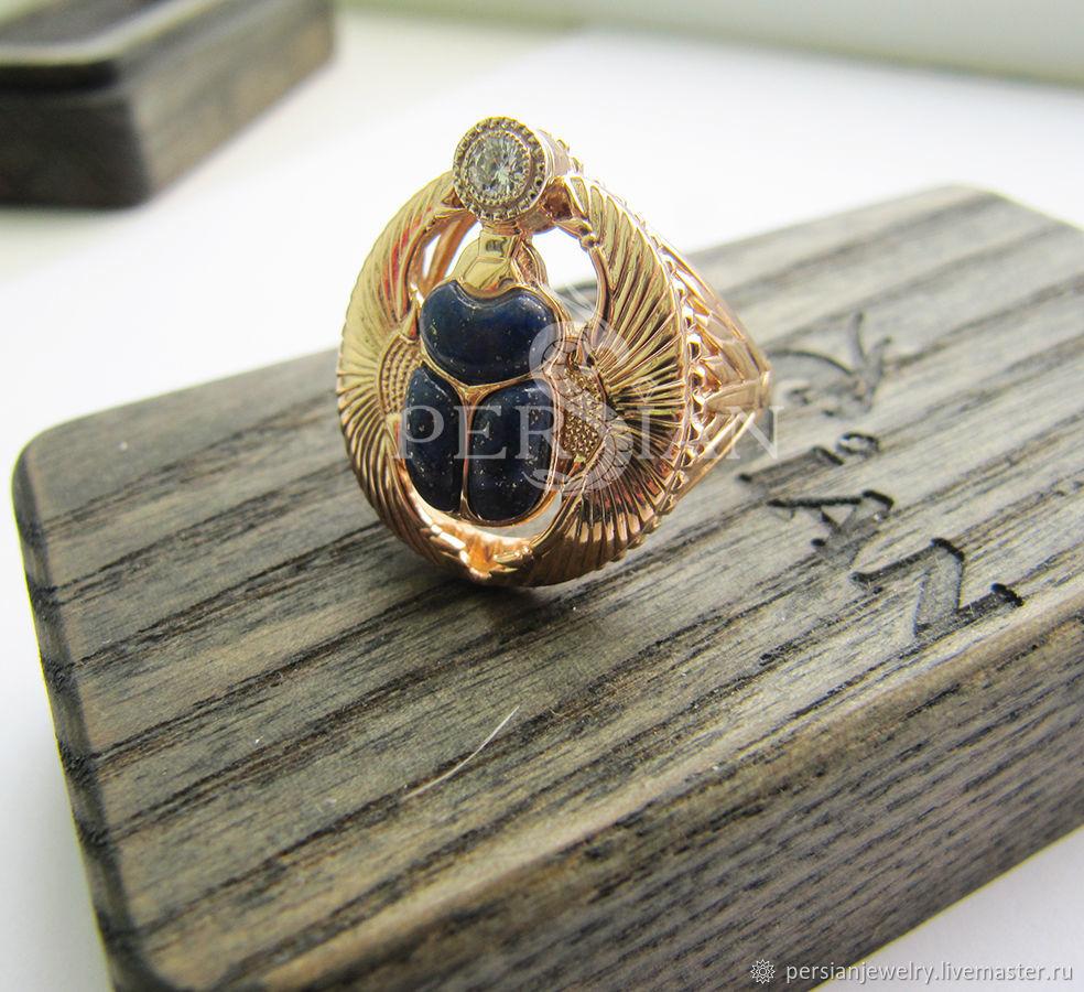 Gold scarab ring with diamond, Ring, Sevastopol,  Фото №1