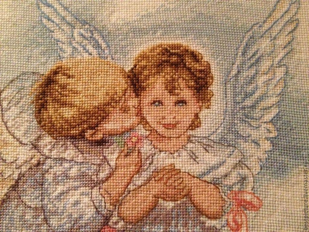 Картинки ангелочки вышивка