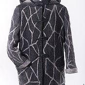 Одежда ручной работы. Ярмарка Мастеров - ручная работа Пальто черно -белый жираф. Handmade.