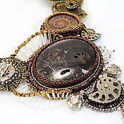 """Украшения ручной работы. Ярмарка Мастеров - ручная работа Колье """"Наутилус"""" (вышивка, стиль стимпанк). Handmade."""