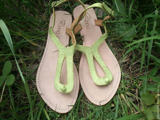 Обувь ручной работы. Ярмарка Мастеров - ручная работа. Купить Сандалии из кожи питона. Handmade. Сандалии, сандалии из кожи