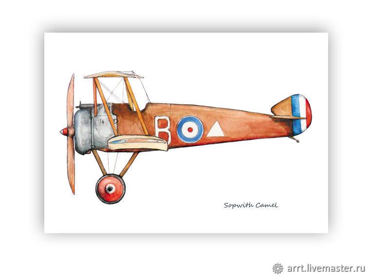 Старинные открытки с самолетами