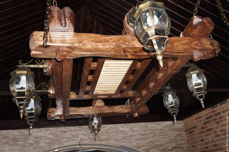 Люстра из дерева под старину мастер класс