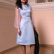 Одежда ручной работы. Ярмарка Мастеров - ручная работа Небесно-голубое платье. Handmade.