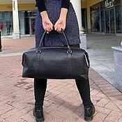 Сумки и аксессуары handmade. Livemaster - original item Travel and sports bag made of genuine leather. Handmade.