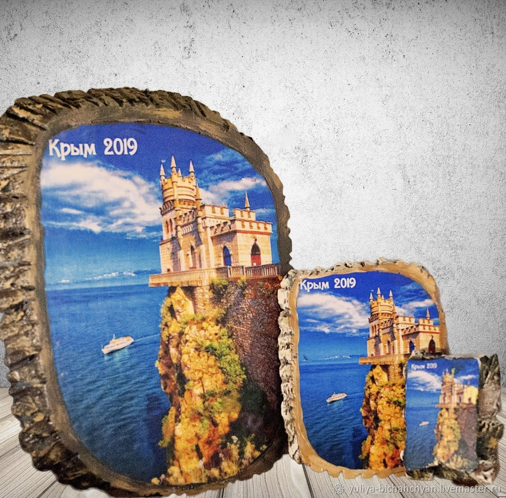 Подвески настенные с изображением Крыма, Магниты, Гурзуф,  Фото №1