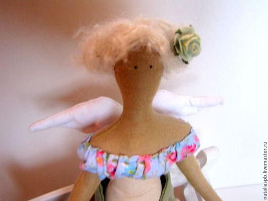 Куклы Тильды ручной работы. Ярмарка Мастеров - ручная работа. Купить Кукла Тильда. Handmade. Голубой, интерьерная игрушка, кружево