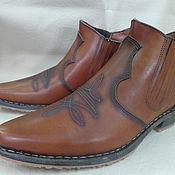 """Обувь ручной работы. Ярмарка Мастеров - ручная работа Мужские ботинки """"казаки!. Handmade."""