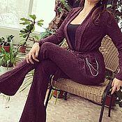 Одежда handmade. Livemaster - original item Women`s suit, two-piece suit, knitted suit .. Handmade.