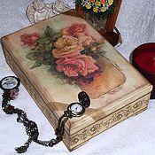 Для дома и интерьера ручной работы. Ярмарка Мастеров - ручная работа Vintage roses шкатулка. Handmade.