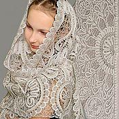 Косынка-шаль ручного кружева для крестных и мам