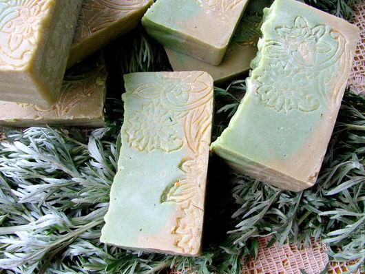 """Мыло ручной работы. Ярмарка Мастеров - ручная работа. Купить Мыло натуральное """"Седая полынь"""". Handmade. Салатовый, полынь"""