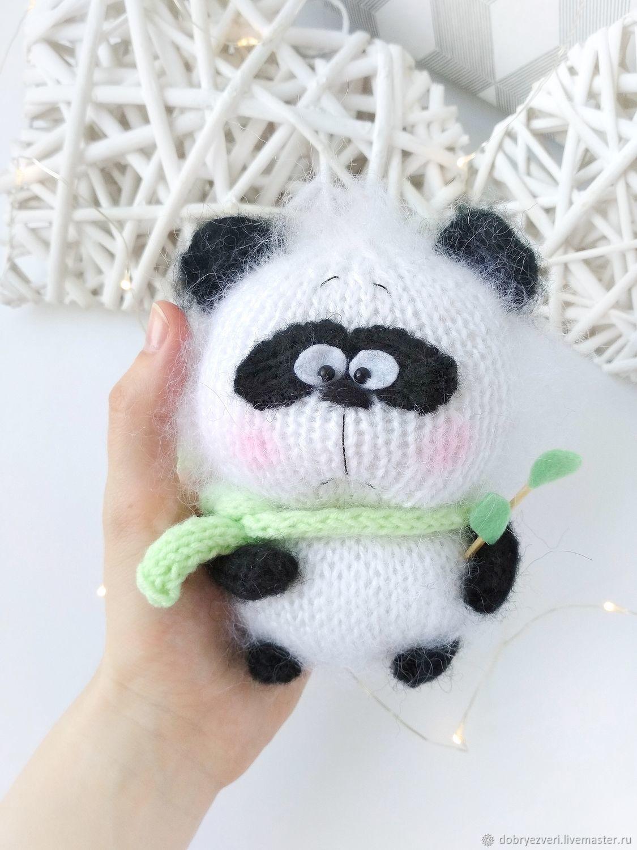 Вязаная игрушка панда амигуруми медведь ручной работы, Мягкие игрушки, Барнаул,  Фото №1