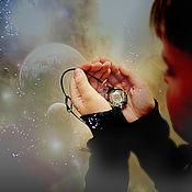 """Украшения ручной работы. Ярмарка Мастеров - ручная работа Кулон """"Галактика на поясе Ориона"""" lampwork. Handmade."""
