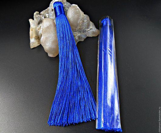 Для украшений ручной работы. Ярмарка Мастеров - ручная работа. Купить Кисть 12см.  цвет синий кис-22. Handmade.